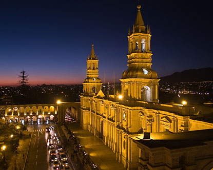 Arequipa main cathedral Square