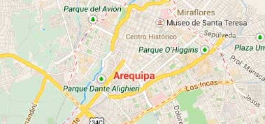 Map of Arequipa