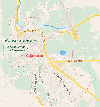 Map of Cajamarca